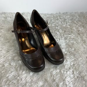 Etienne Aigner Brown Mary Jane Heels Brown Sz 11M